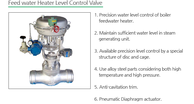 feed water heater level control valve ccuart Gallery